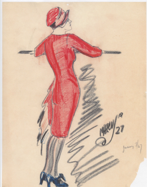 Alan Marcus_Lady in a Red Dress